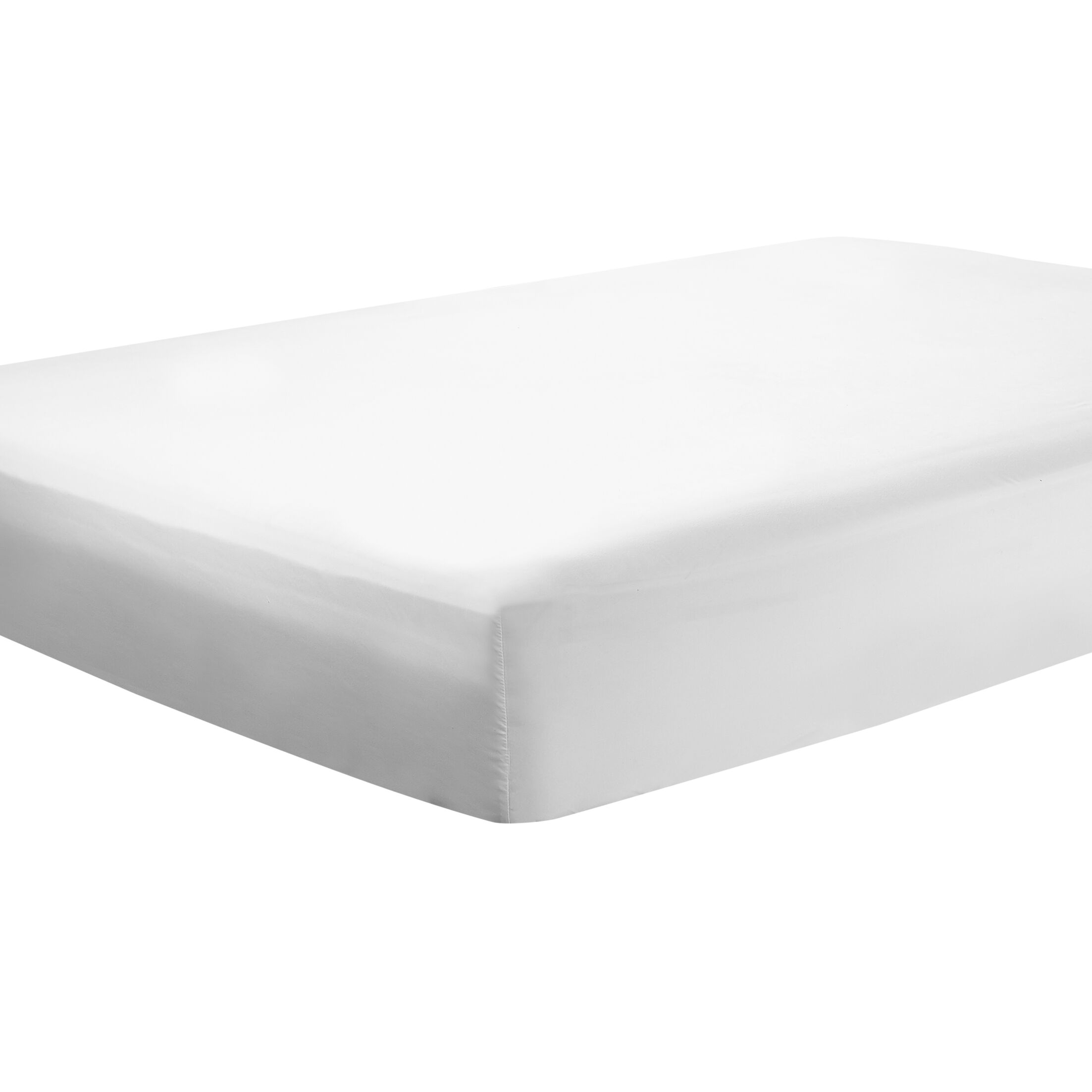 Mozelle Extra Deep Pocket Fitted Sheet Size: King, Color: White