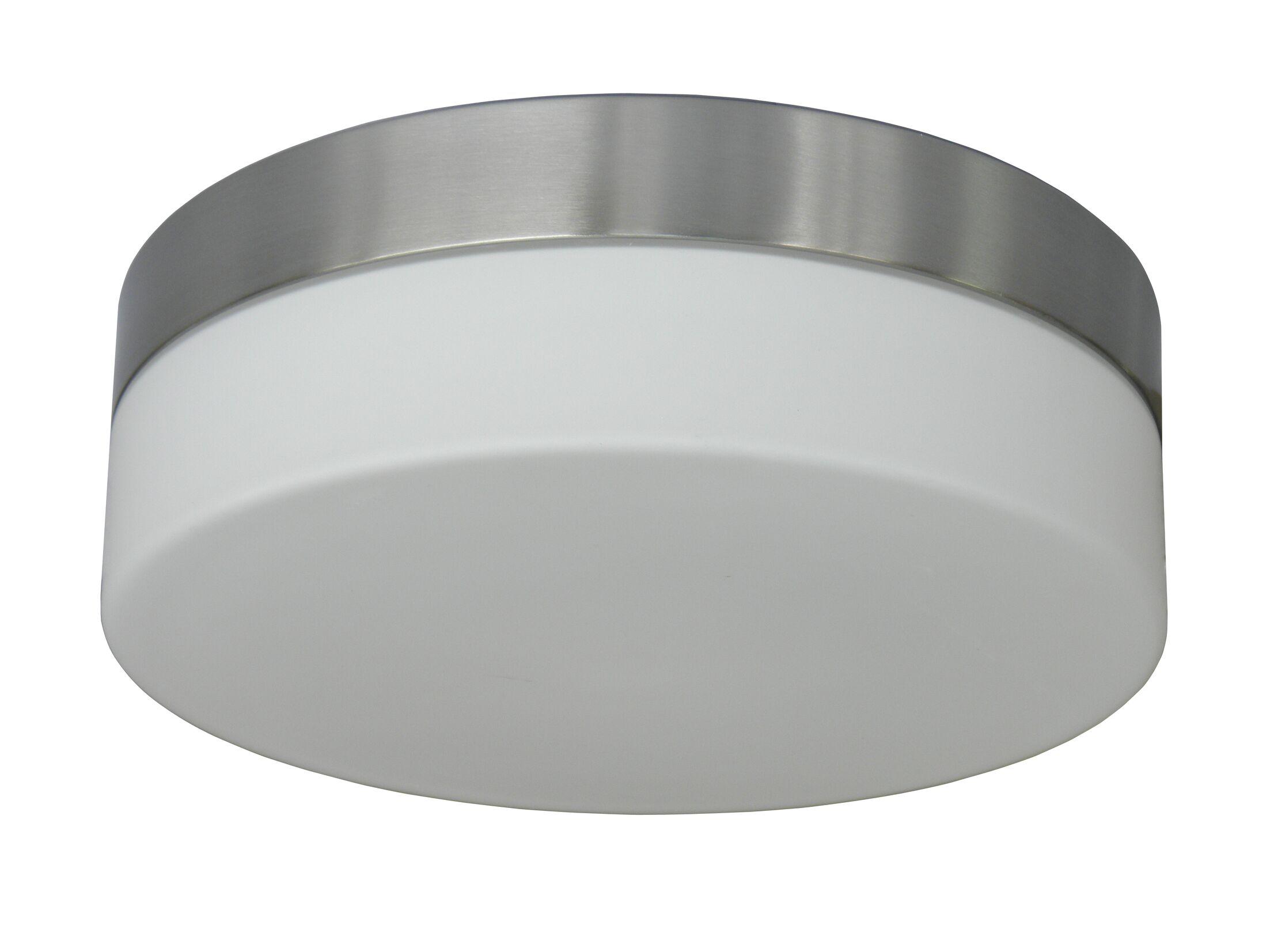 Felix 2-Light Flush Mount Finish: Satin Steel