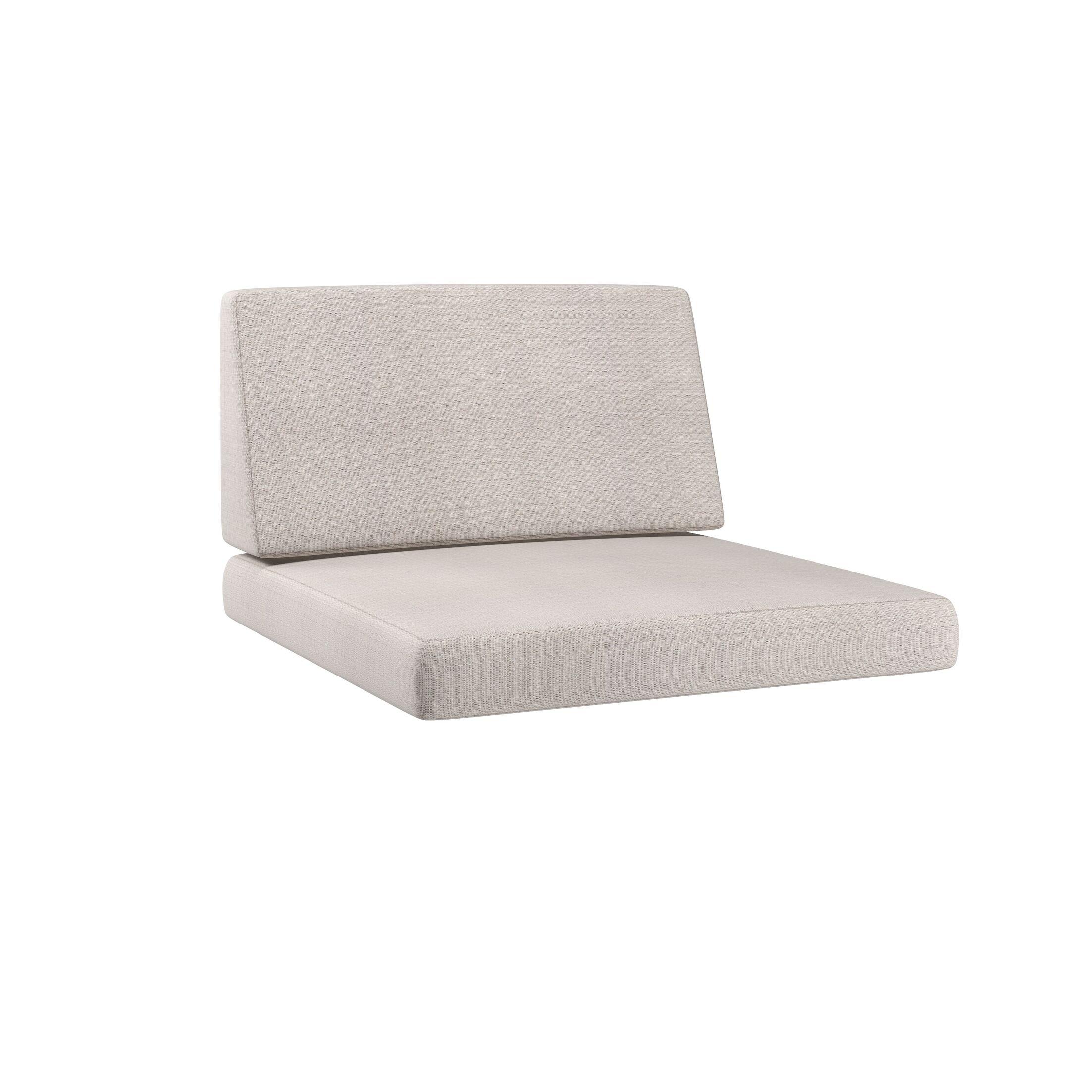Chretien 2 Piece Indoor/Outdoor Middle Chair Cushion Set Fabric: Salt/Pepper