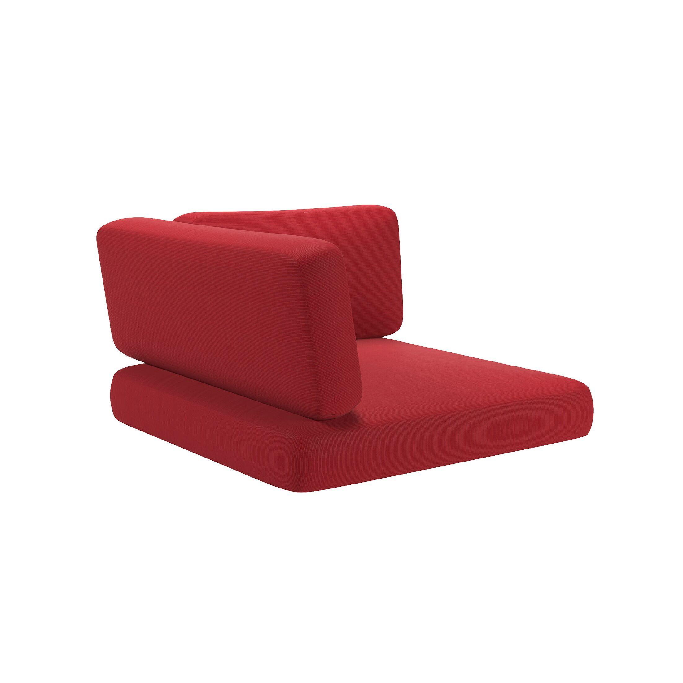 3 Piece Indoor/Outdoor Corner Chair Cushion Set Fabric: Red