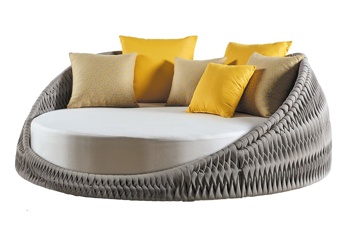Pascarella Round Loveseat with Cushions Fabric: Gray