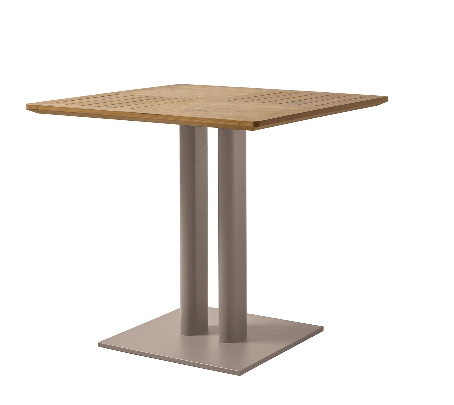 Rickie Aluminum Bistro Table Color: Chanvre