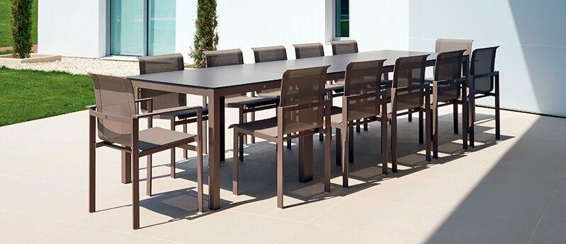 Santistevan Aluminum Dining Table Size: 29