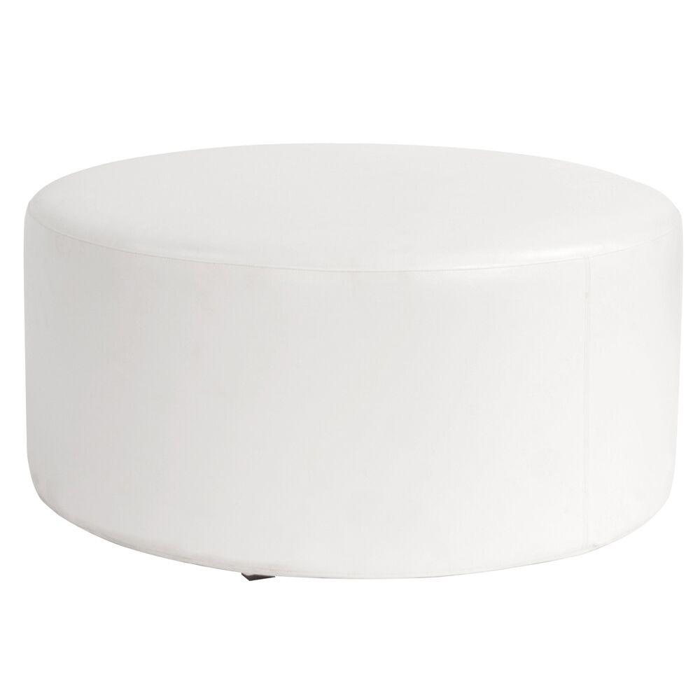 Shad Round Cover Color: Atlantis White