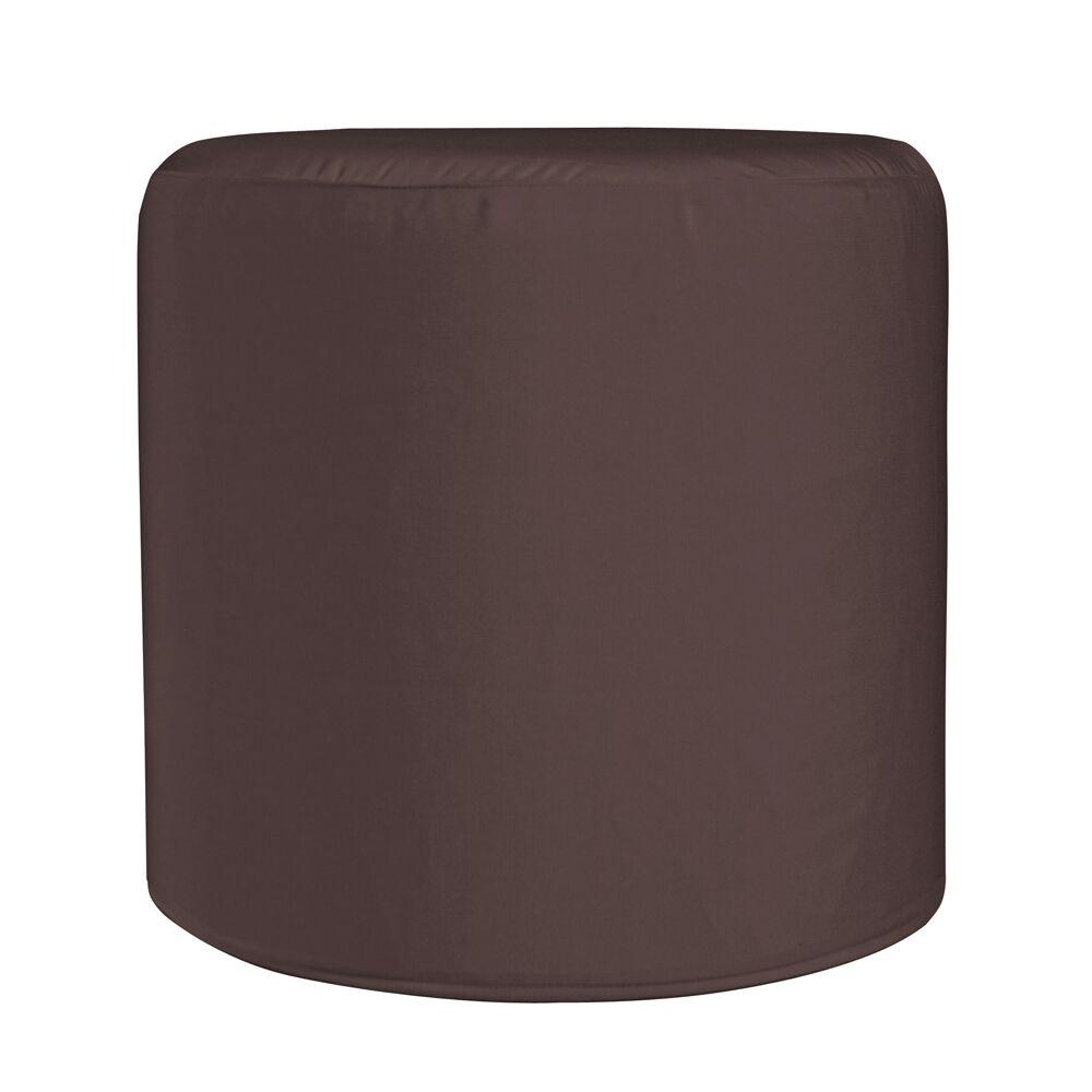 Contreras Cylinder Ottoman Fabric: Sunbrella� Acrylic - Seascape Chocolate