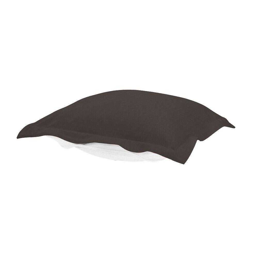 Puff Ottoman Cushion Fabric: Seascape Charcoal