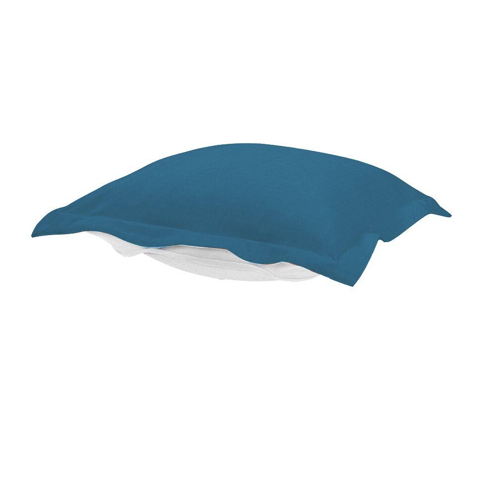 Puff Ottoman Cover Color: Seascape Turquoise