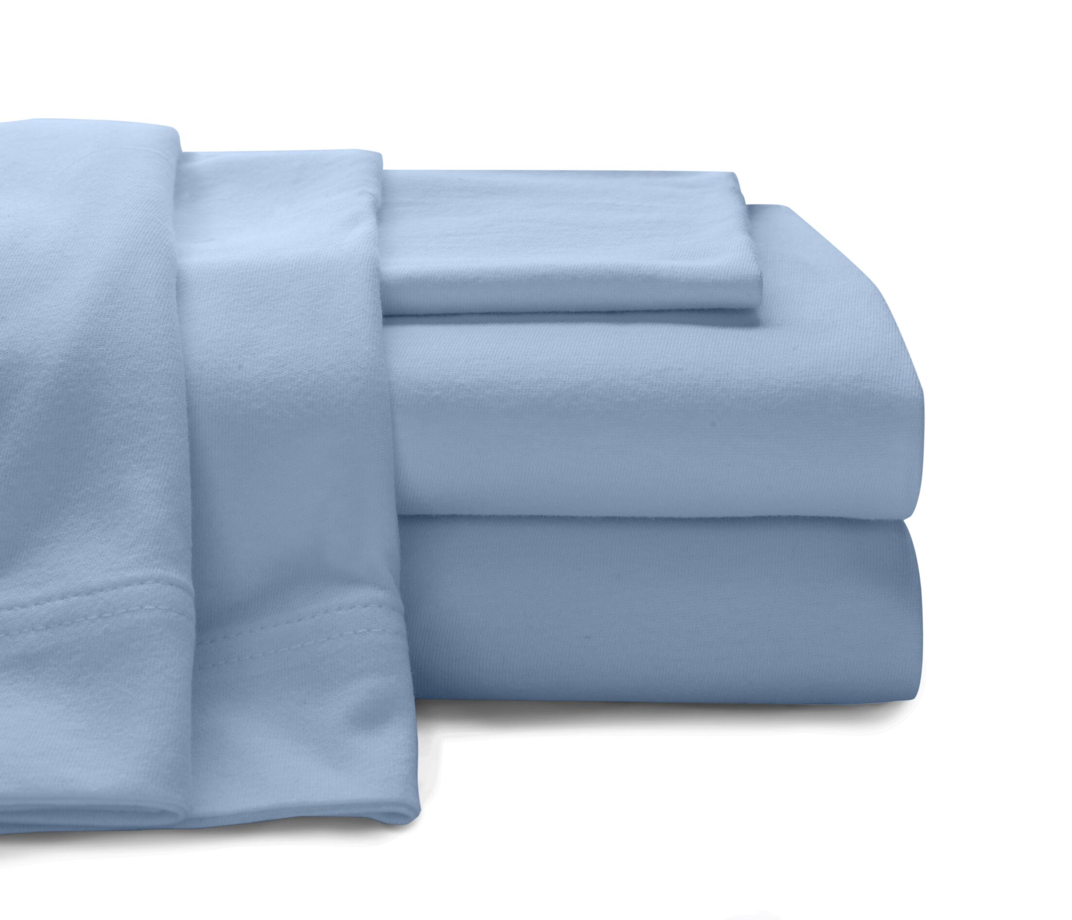 Mccoy Super Soft Jersey 100% Cotton Sheet Set Color: Blue, Size: King