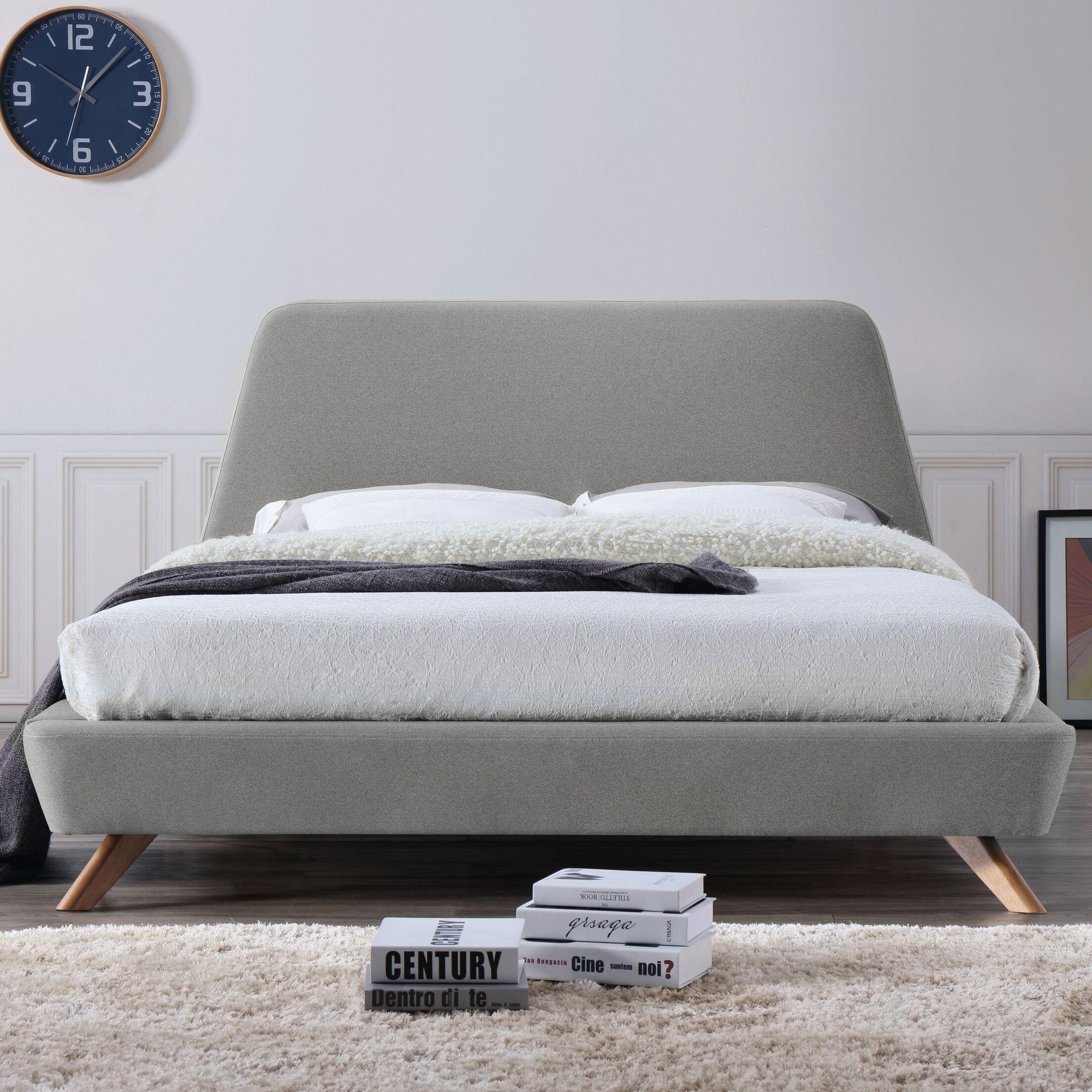 Henry Queen Upholstered Platform Bed Color: Gray