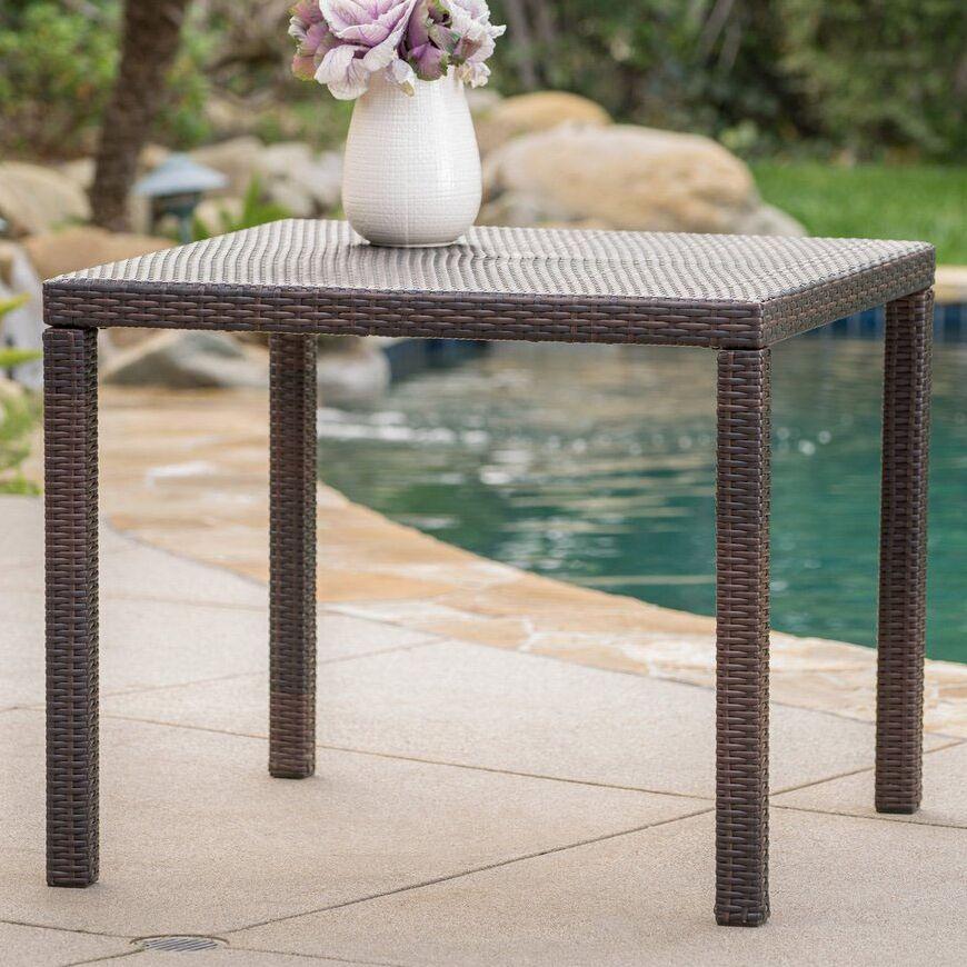 Diamond Outdoor Wicker Dining Table