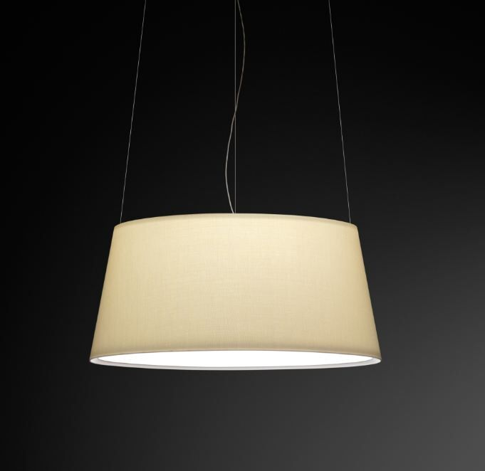 Warm Medium Pendant with Off White Shade Bulb Type: 4 x 60W Max E-26 Medium Incandescent