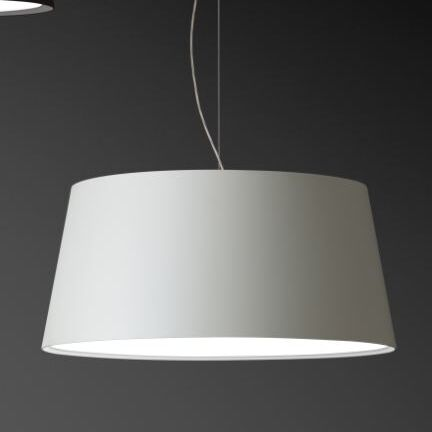 Warm Medium Pendant with Fluorescent Shade Color: White