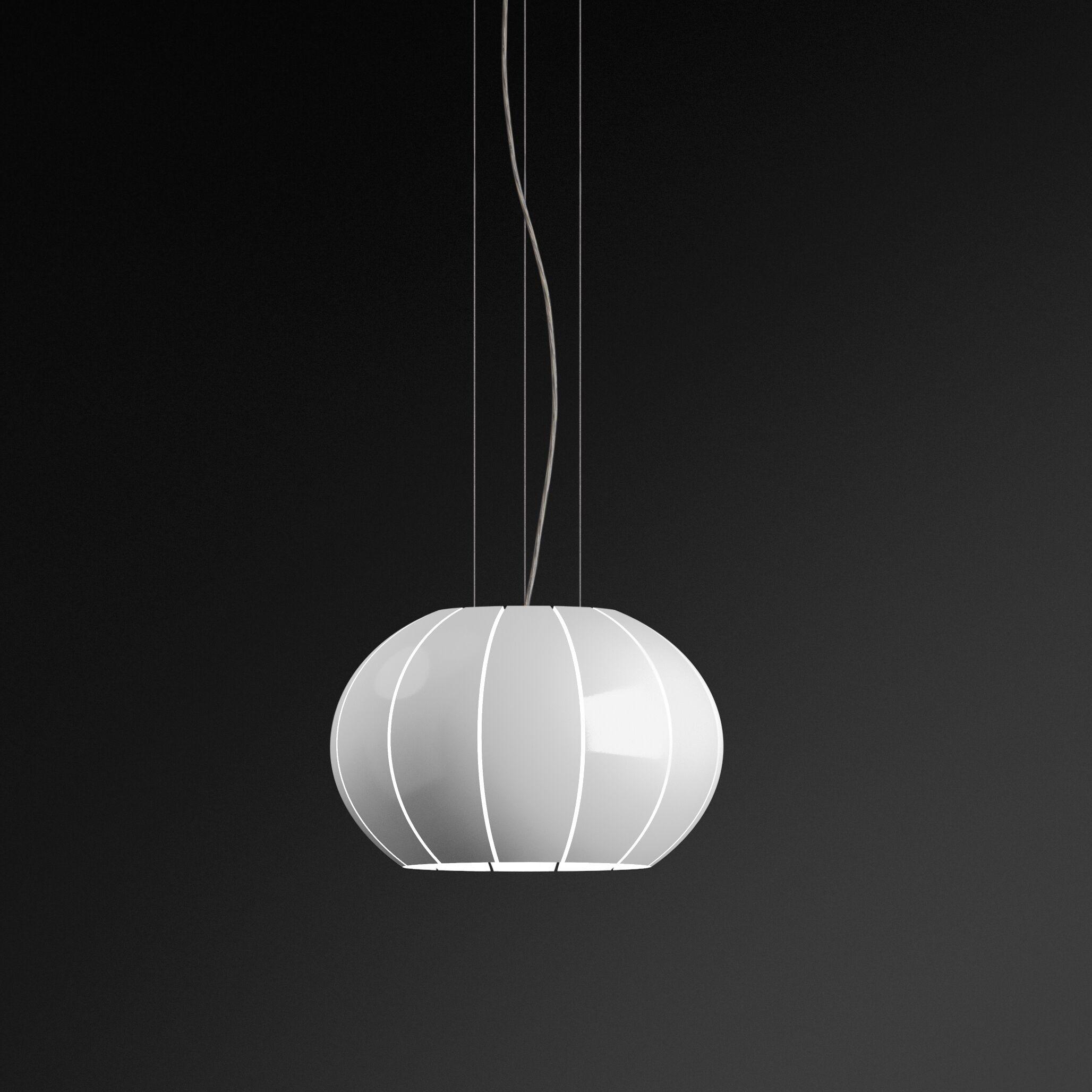 Citrus 2-Light Pendant Finish: White Lacquer