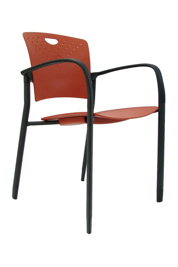 Staq Guest Chair (Set of 4) Finish: Brick