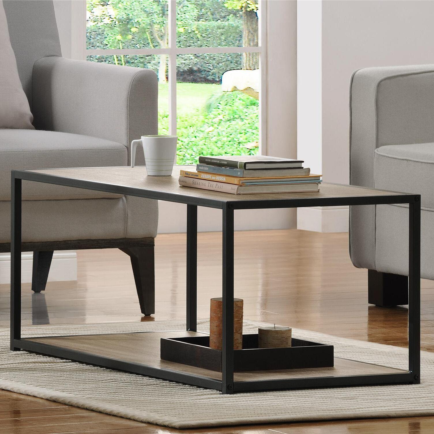 Hintz Industrial Coffee Table Color: Sonoma Oak