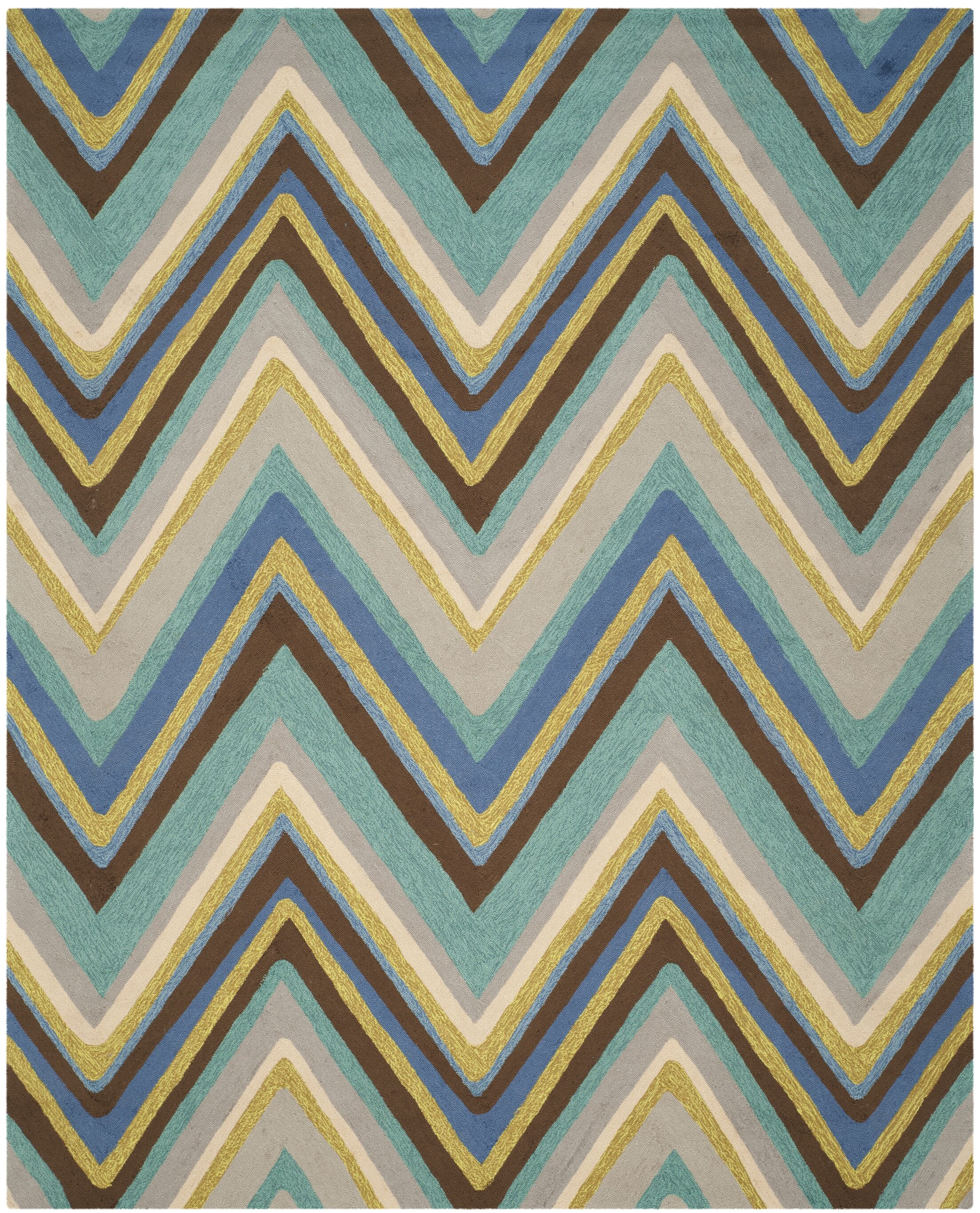 Hayes Hand-Hooked Blue Area Rug Rug Size: Rectangle 5' x 7'