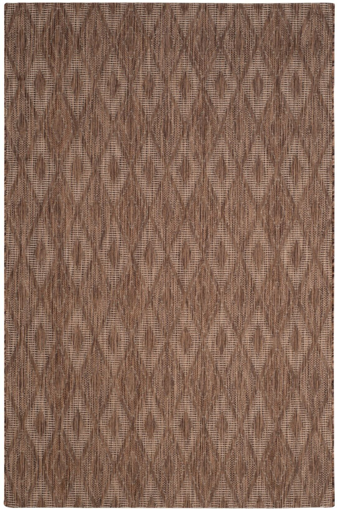 Brodie Brown Indoor/Outdoor Area Rug Rug Size: Rectangle 6'7