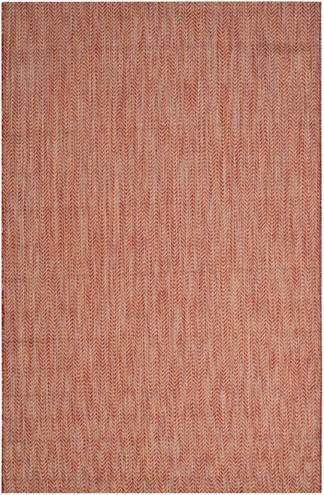 Brodie Red / Beige Indoor/Outdoor Area Rug Rug Size: Rectangle 2'3