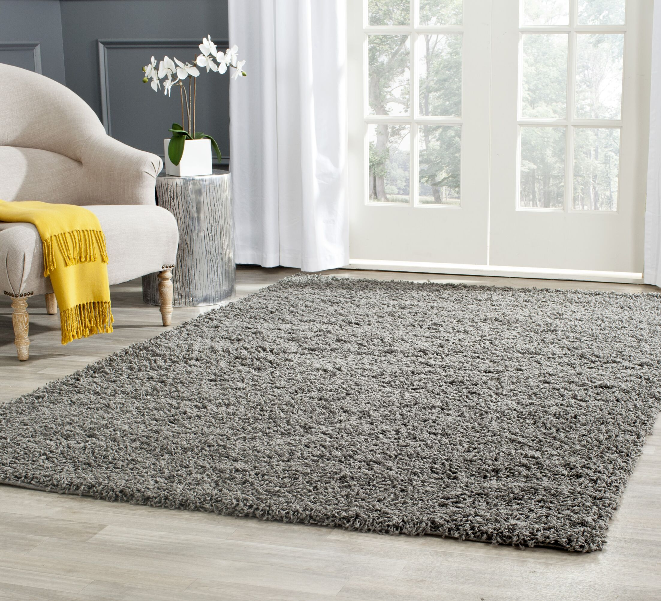 Kourtney Dark Grey Area Rug Rug Size: Rectangle 9' x 12'