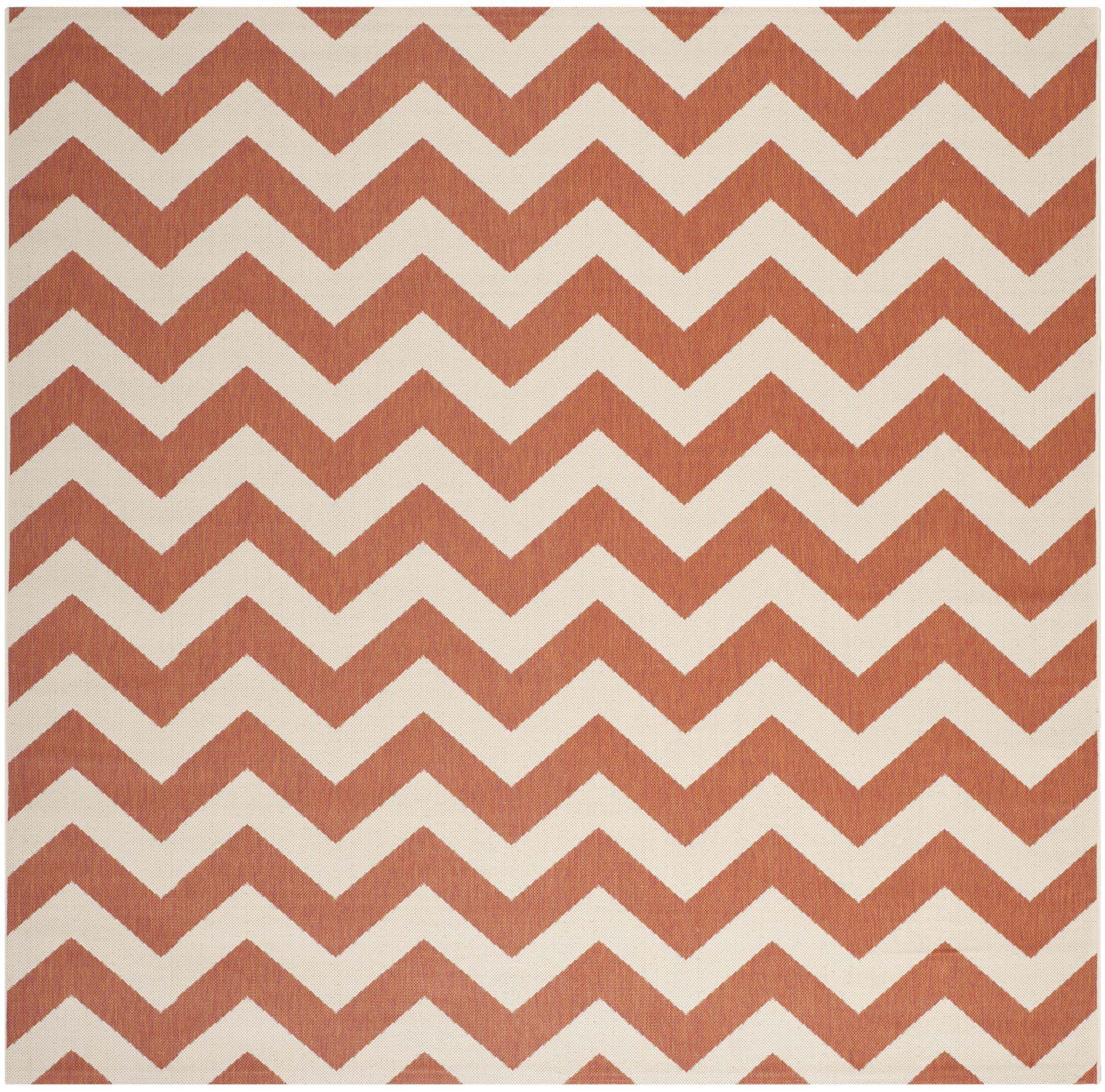 Mullen Terracotta/Beige Indoor/Outdoor Area Rug Rug Size: Square 5'3