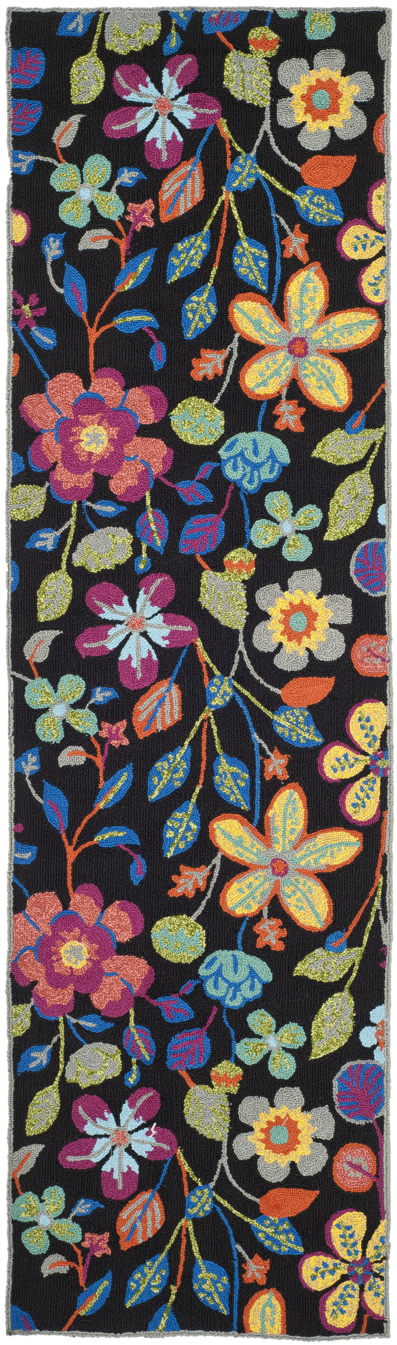 Hayes Floral Outdoor Area Rug Rug Size: Runner 2'3