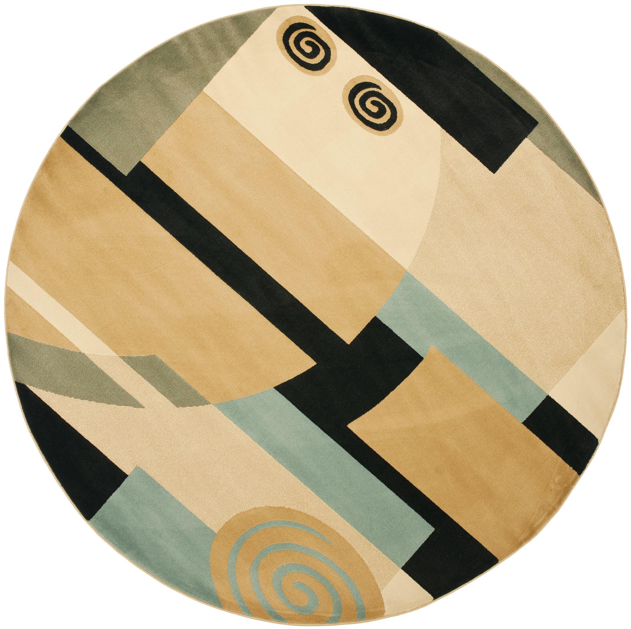 Nanette Tan Area Rug Rug Size: Round 7'
