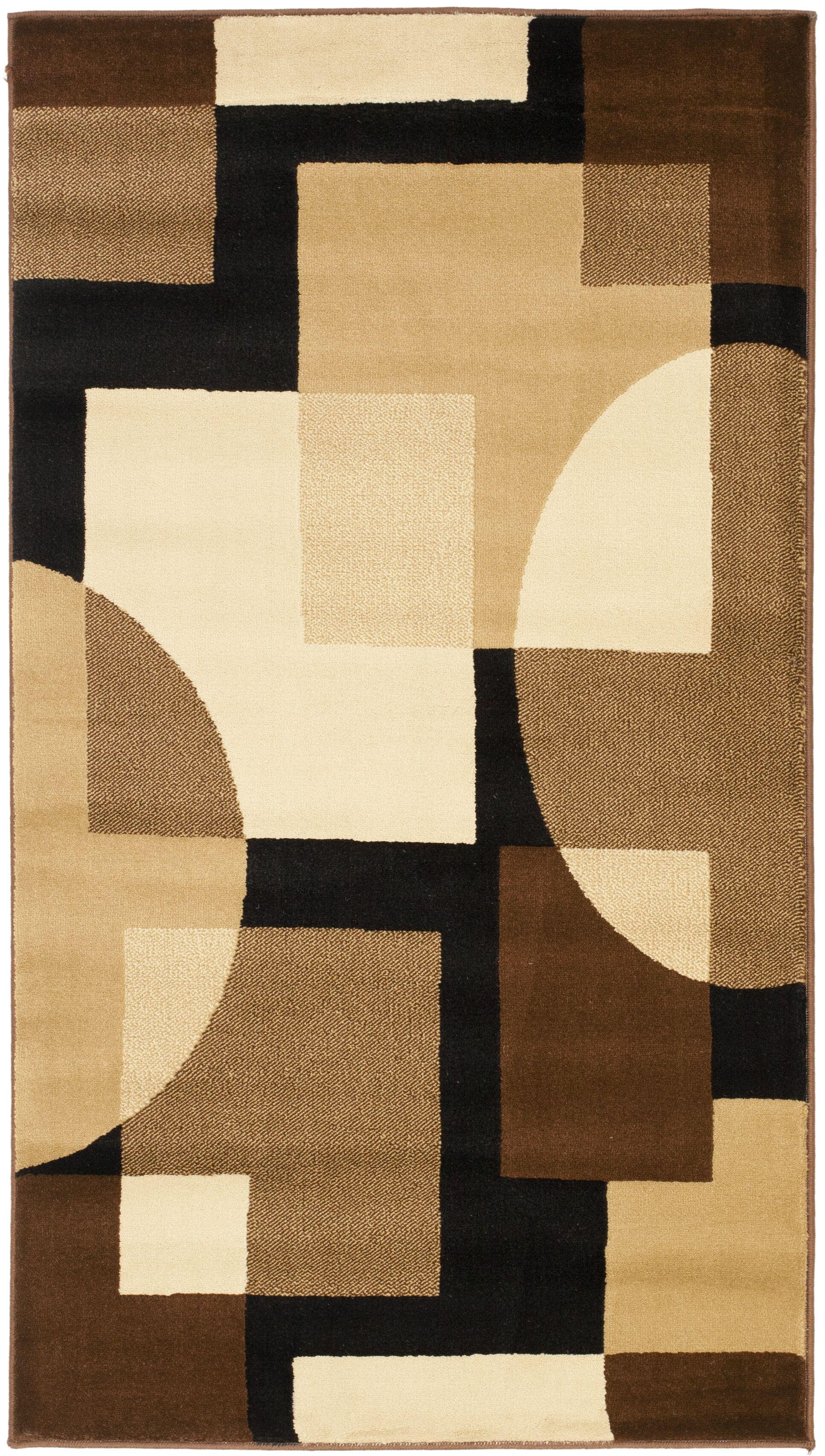 Charis Brown Geometric Area Rug Rug Size: Rectangle 5'3