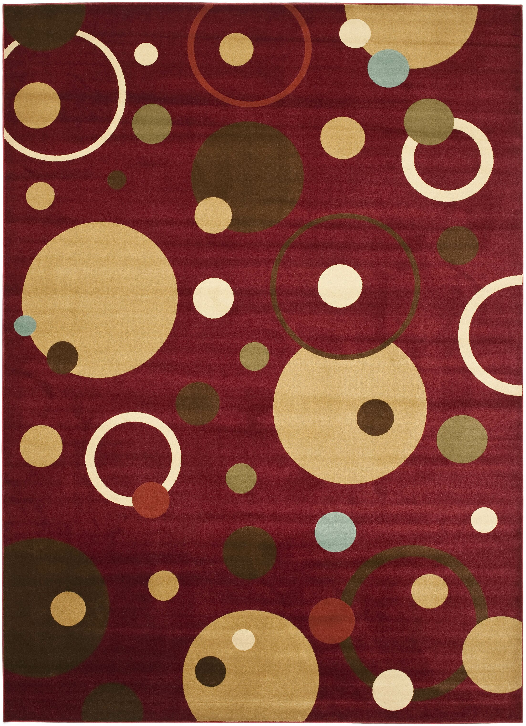 Charis Red Area Rug Rug Size: Rectangle 6'7