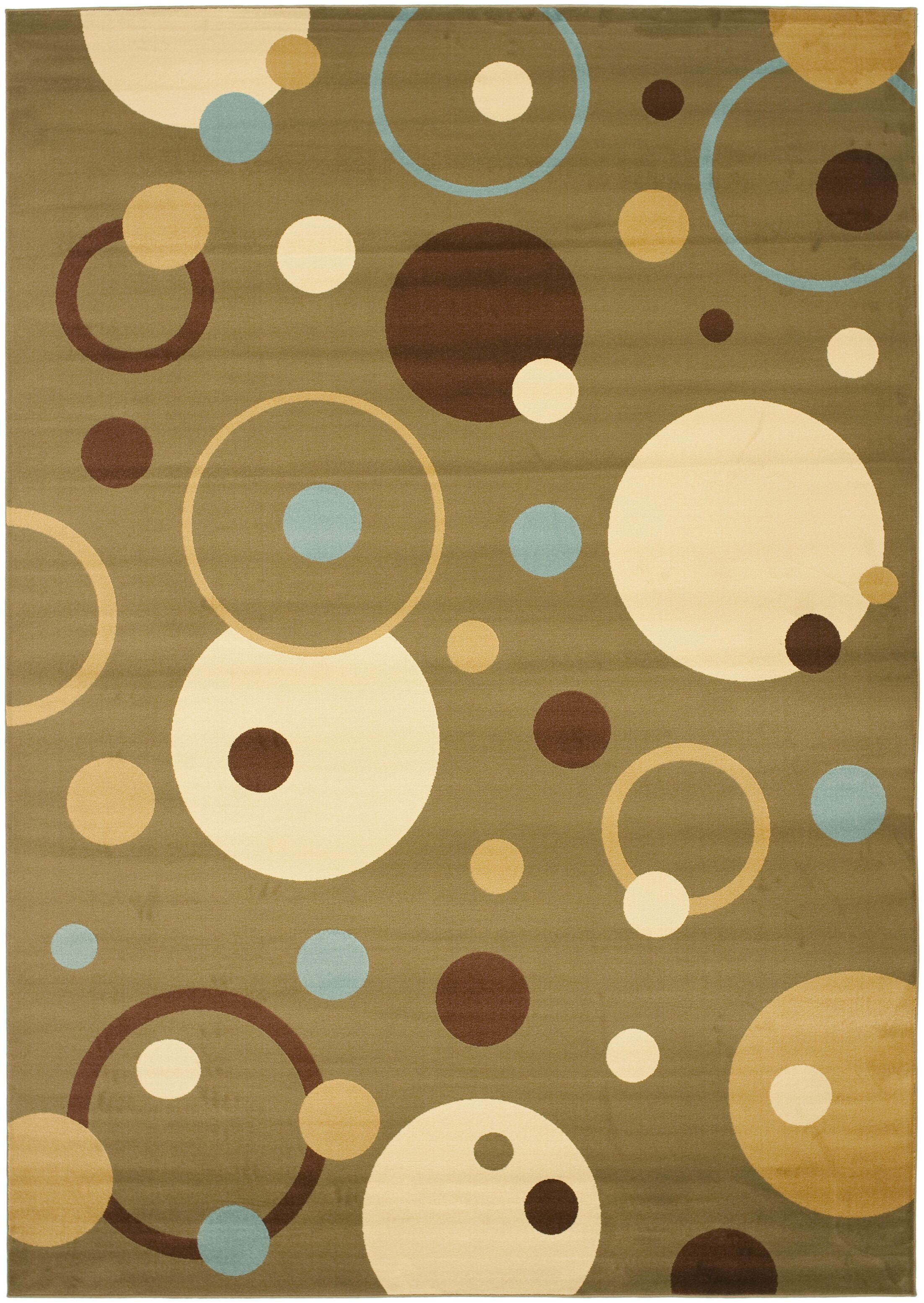 Charis Green Area Rug Rug Size: Rectangle 6'7