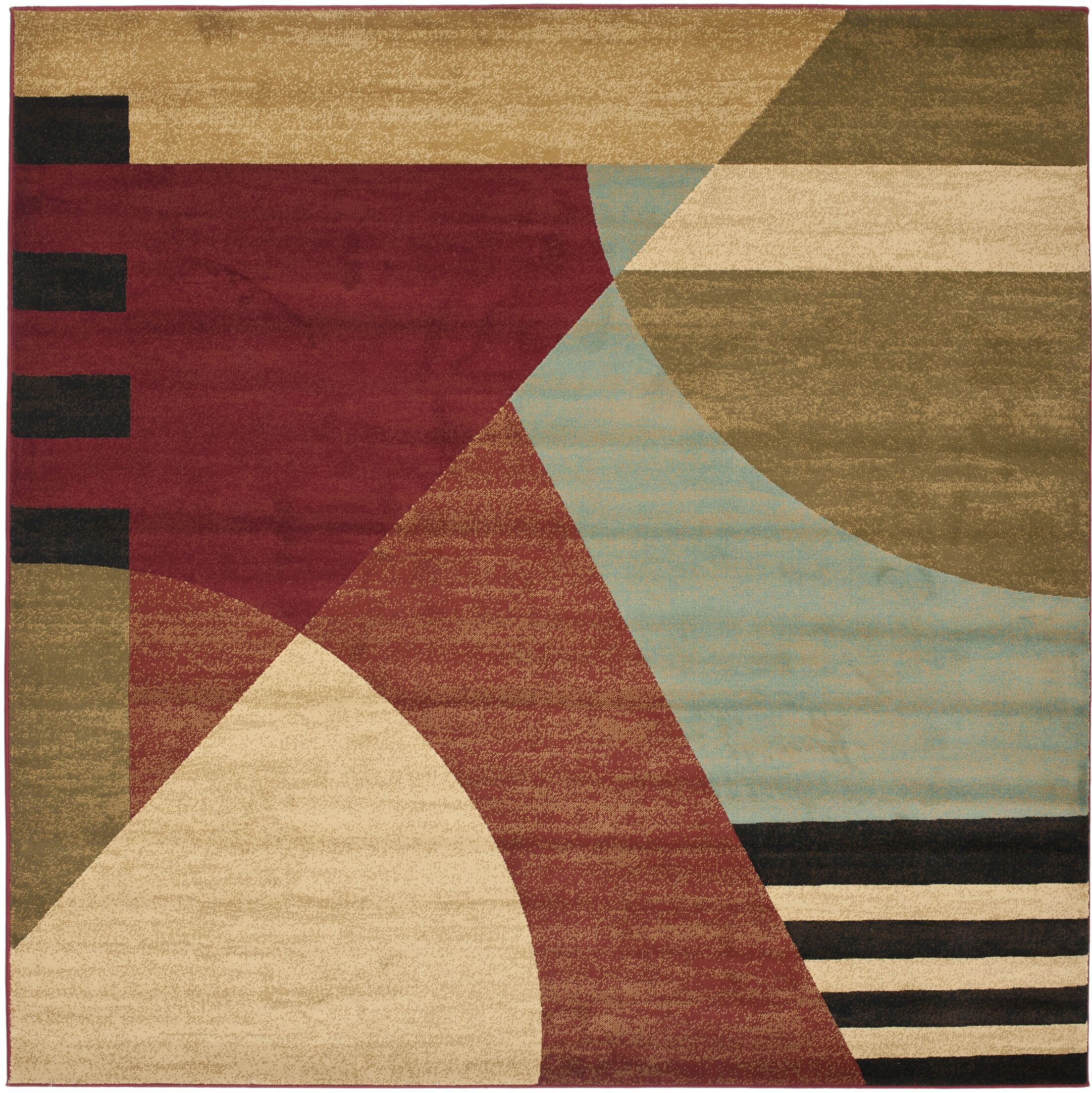 Charis Flower-Petal Area Rug Rug Size: Square 5'