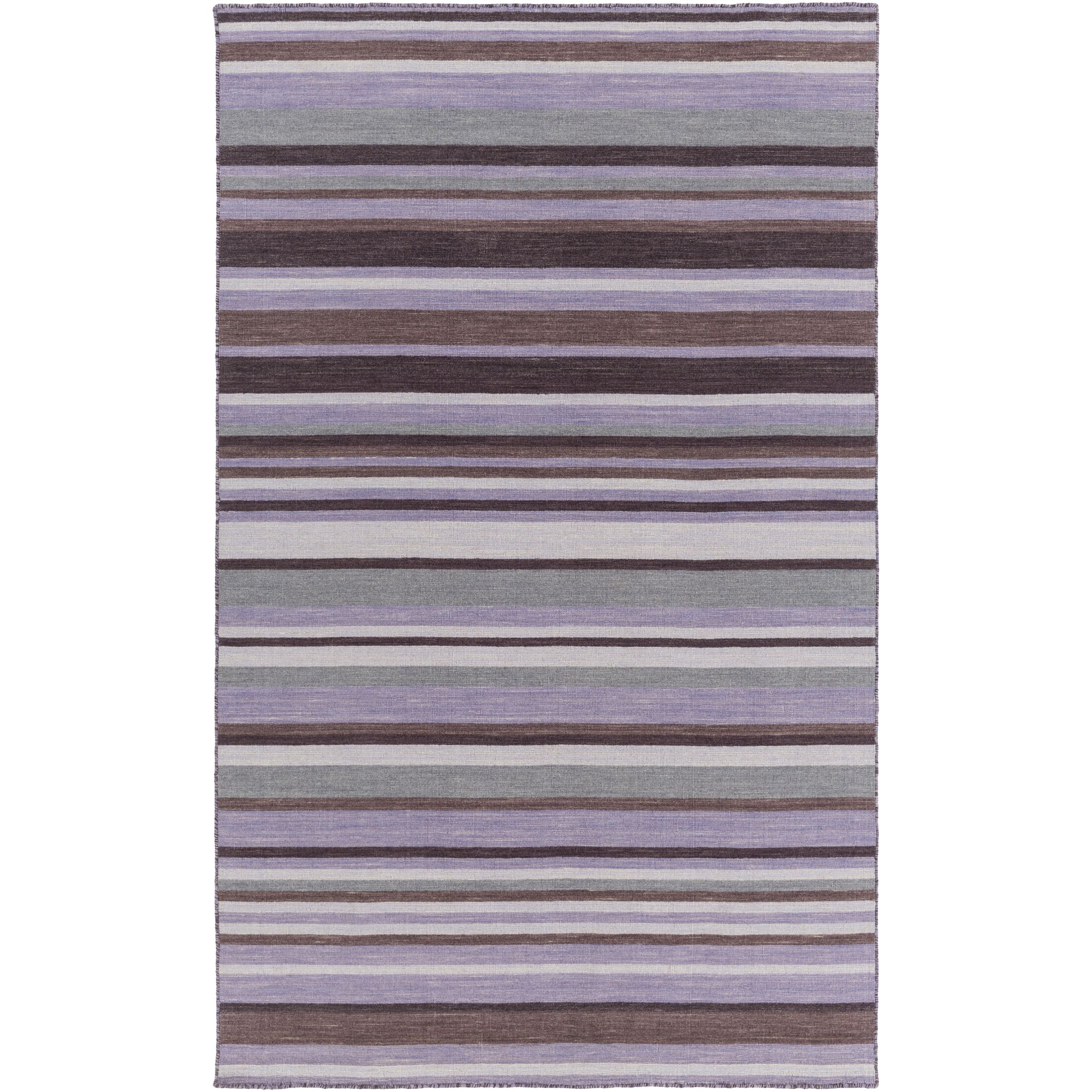 Dixon Hand-Woven Bright Purple Area Rug Rug Size: Rectangle 5' x 8'