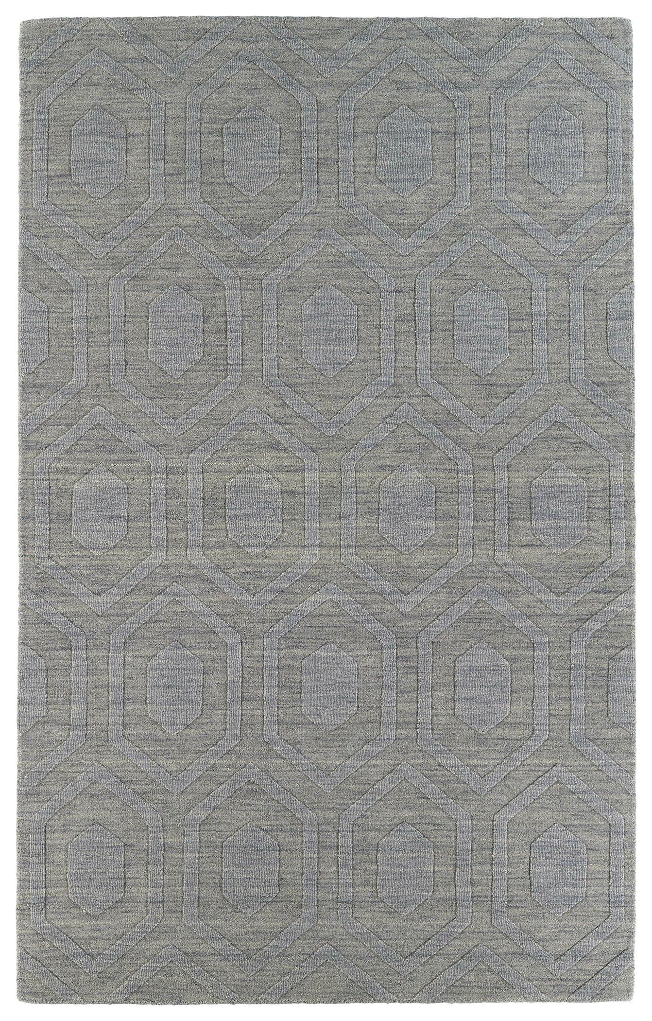 Dobson Steel Geometric Area Rug Rug Size: Rectangle 9'6