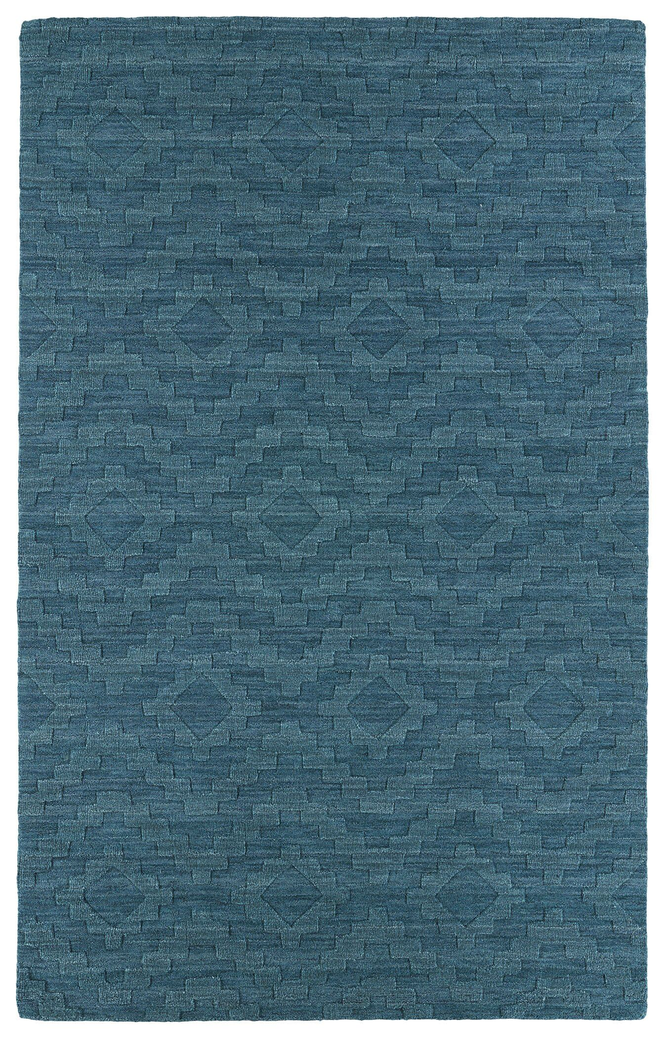 Dobson Tufted Turquoise Geometric Area Rug Rug Size: Rectangle 8' x 11'