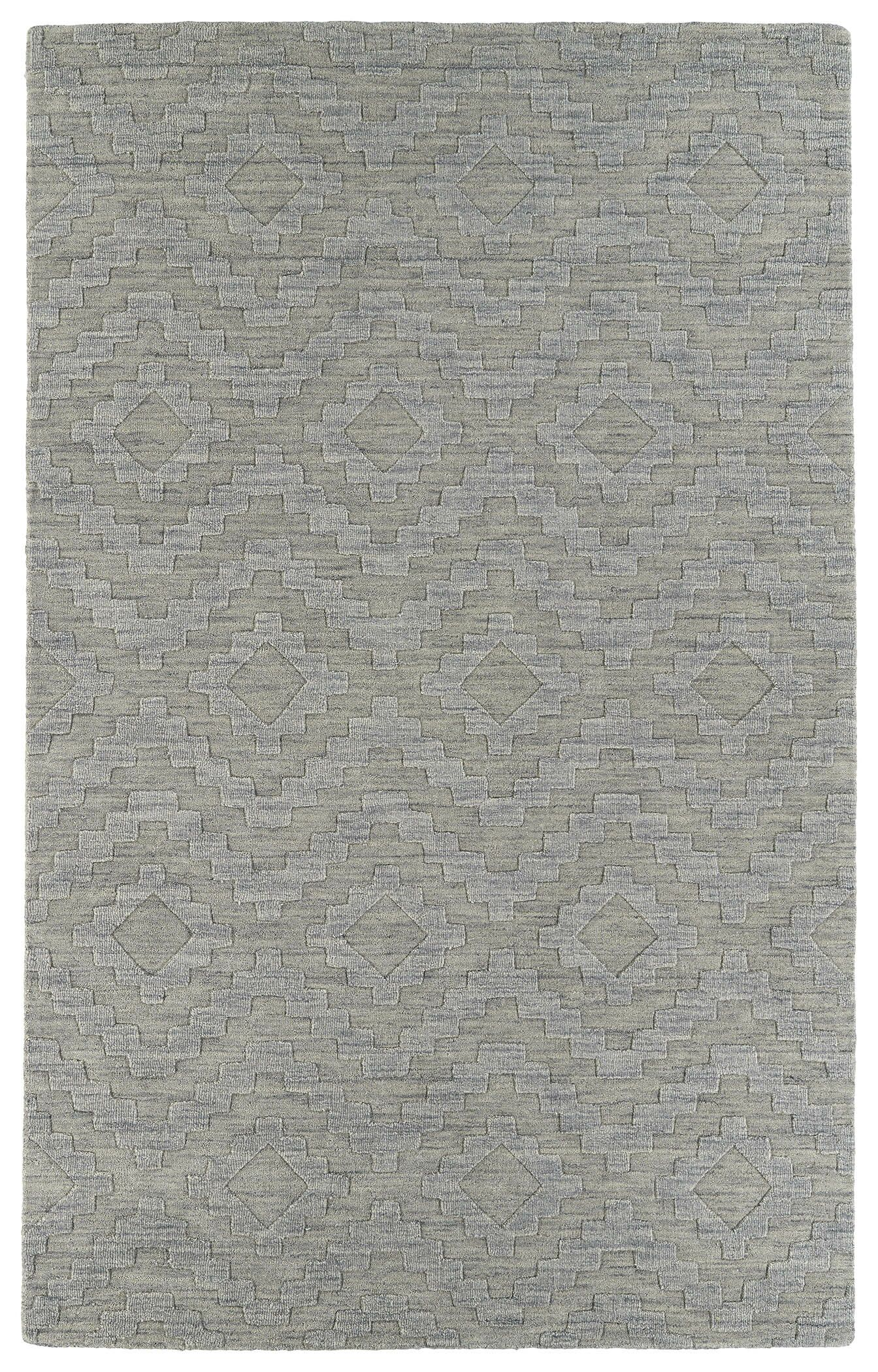 Dobson Hand-Tufted Gray Wool Area Rug Rug Size: Rectangle 3'6