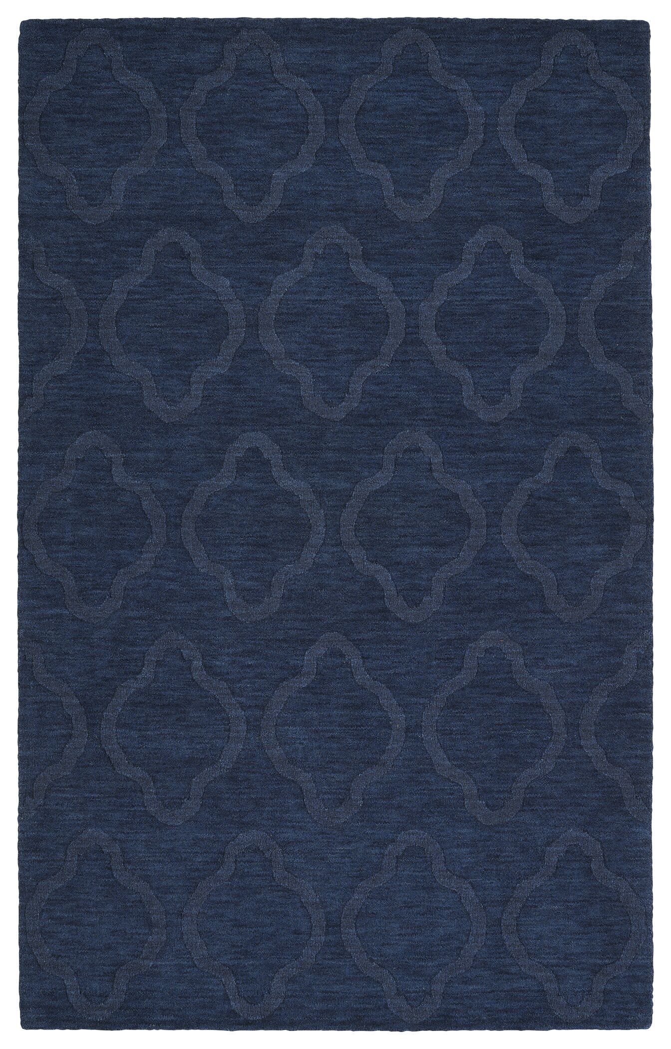 Dobson Handmade Navy Geometric Area Rug Rug Size: Rectangle 5' x 8'