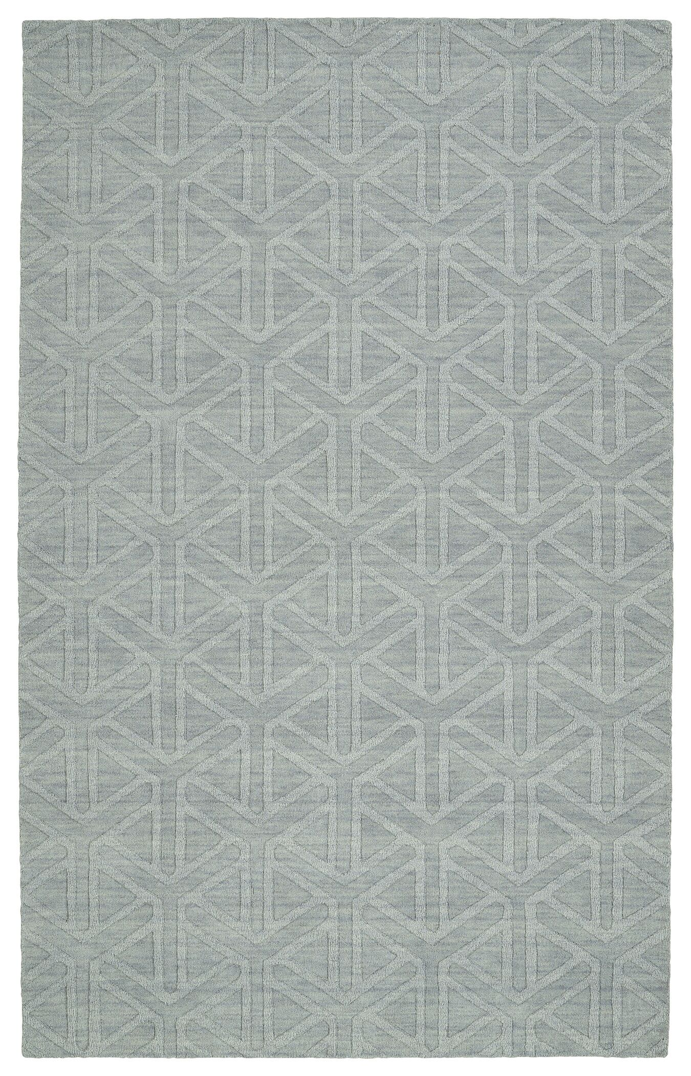 Dobson Handmade Light Blue Area Rug Rug Size: Runner 2'6