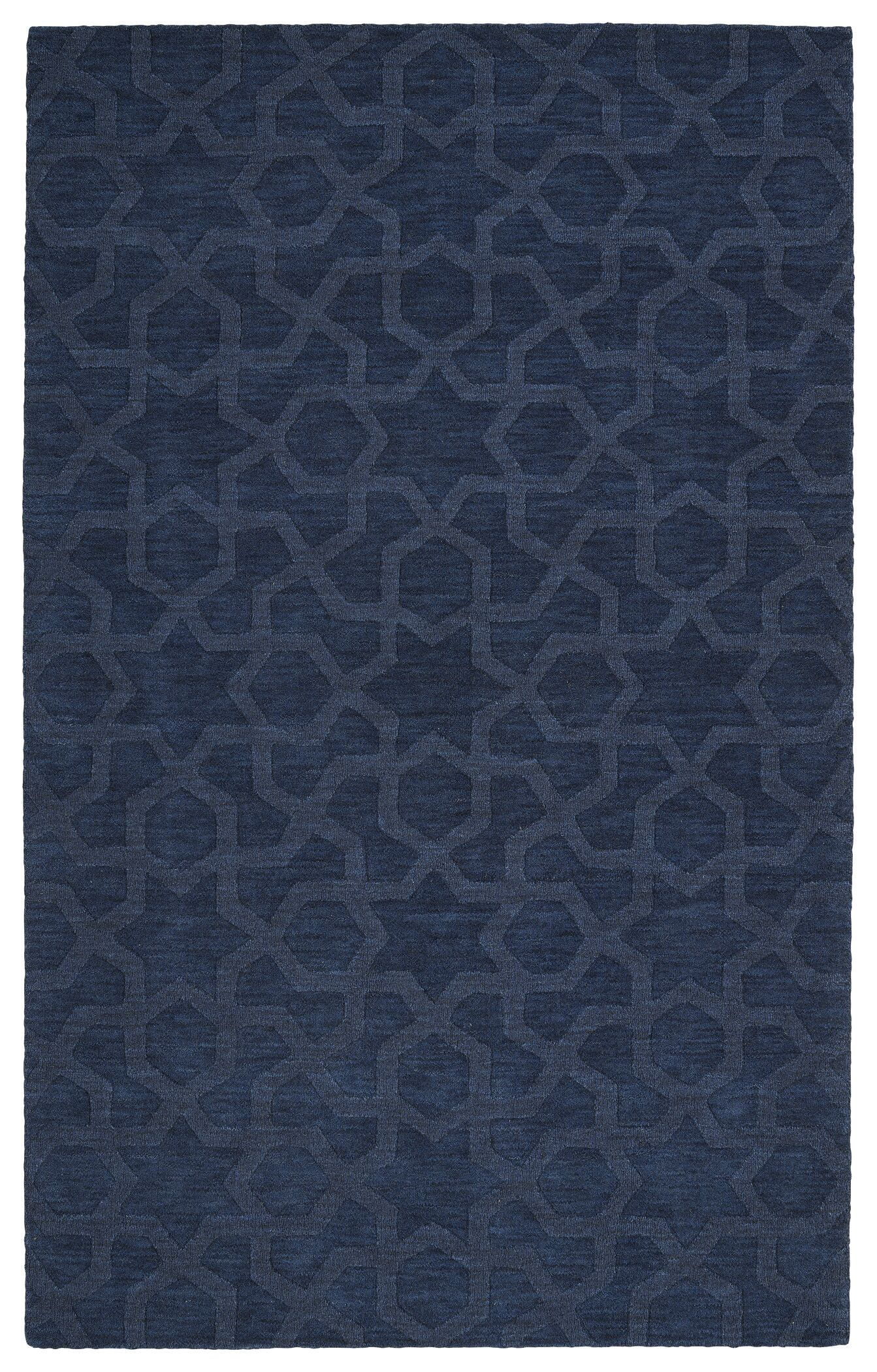Dobson Handmade Navy Area Rug Rug Size: Rectangle 9'6