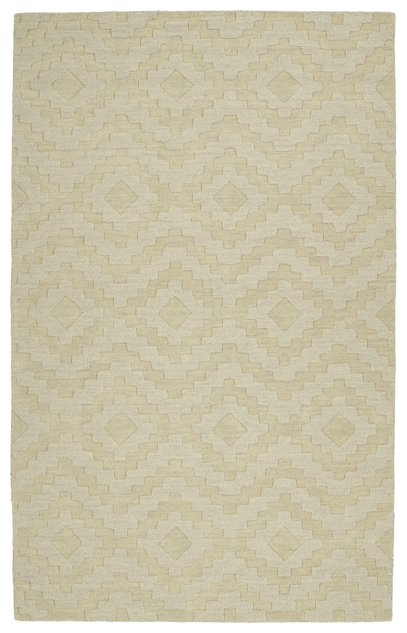 Dobson Handmade Sand Area Rug Rug Size: Rectangle 9'6