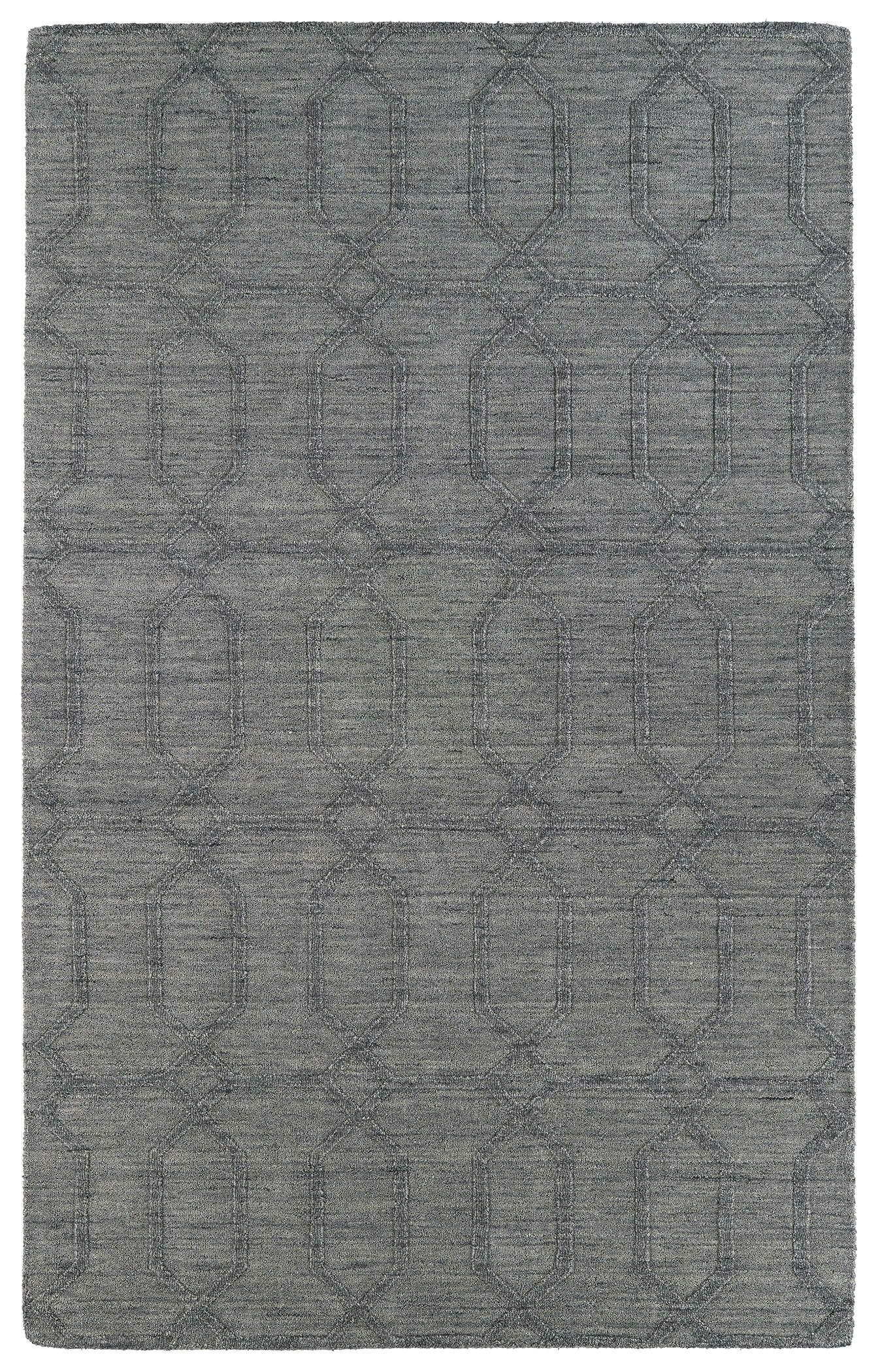 Dobson Hand-Tufted Gray Area Rug Rug Size: Rectangle 5' x 8'