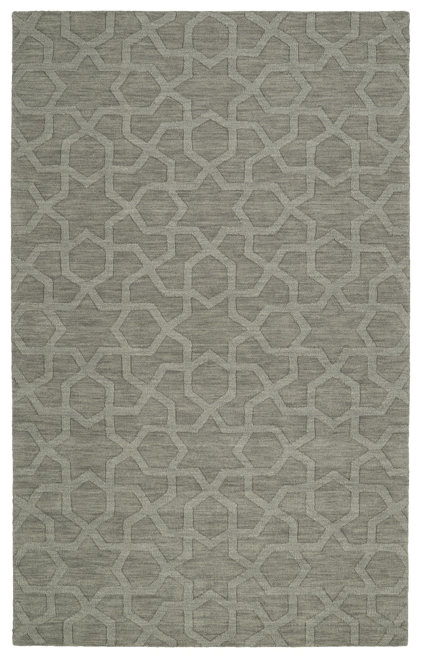 Dobson Handmade Gray Area Rug Rug Size: Rectangle 3'6