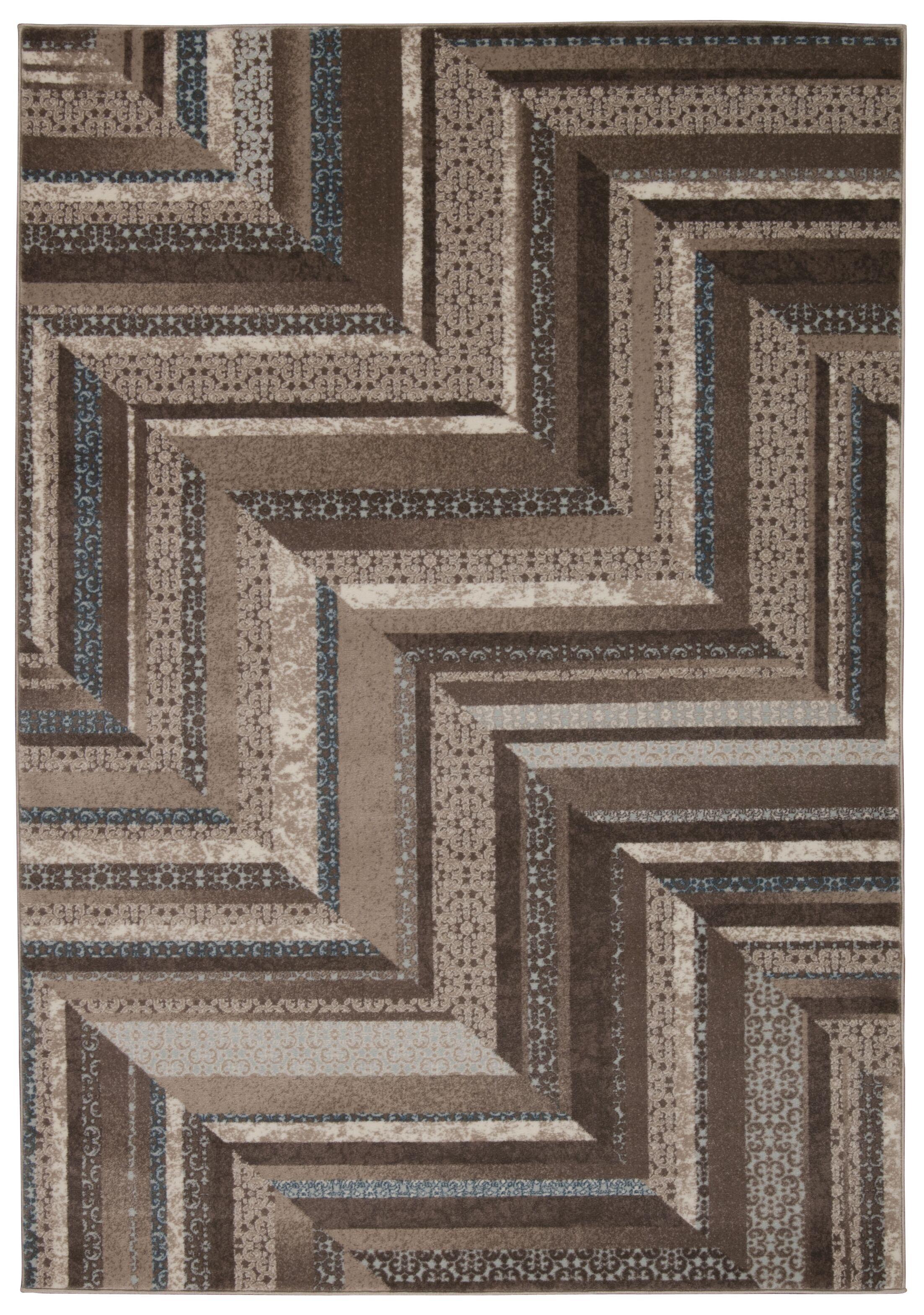 Wendolyn Geometric Mocha Rug Rug Size: Rectangle 7'10