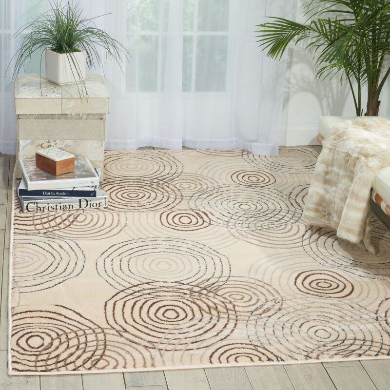 Densmore Geometric Ivory Area Rug Rug Size: Rectangle 7'10