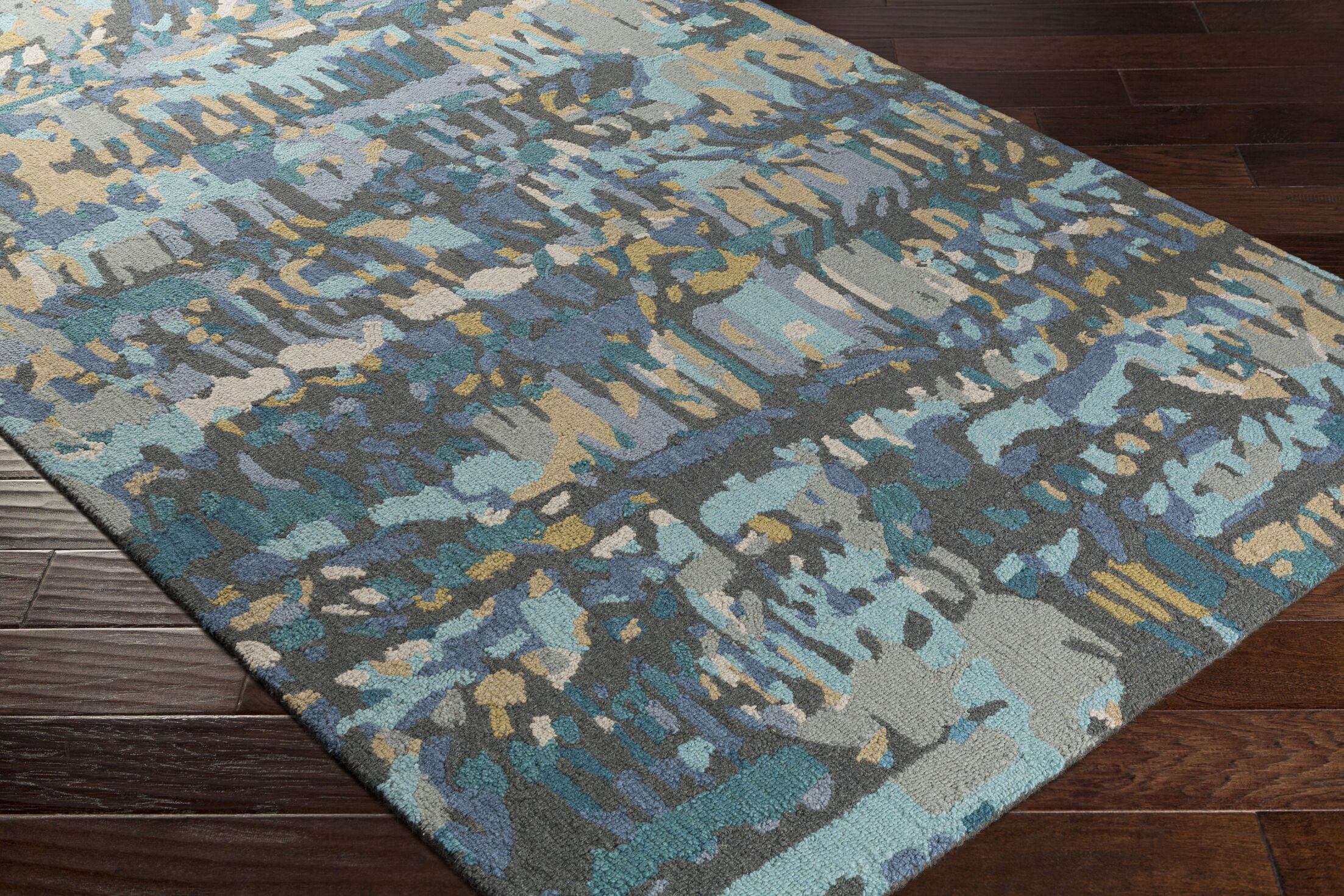 Detroit Hand-Tufted Gray Area Rug Rug Size: Rectangle 8' x 10'