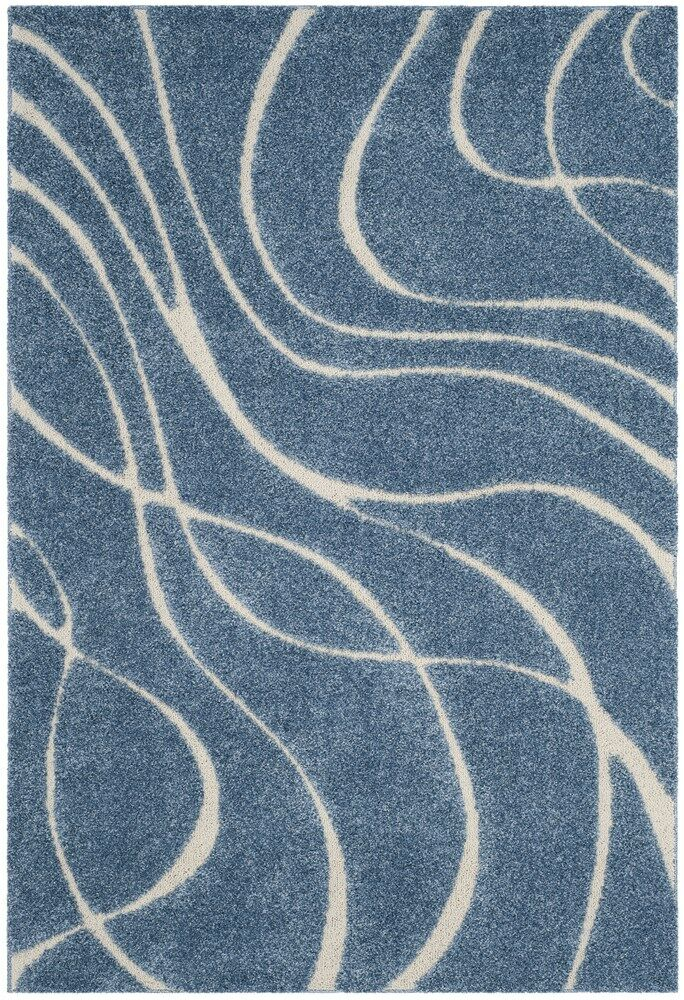 Enrique Blue/Cream Area Rug Rug Size: Rectangle 5'3