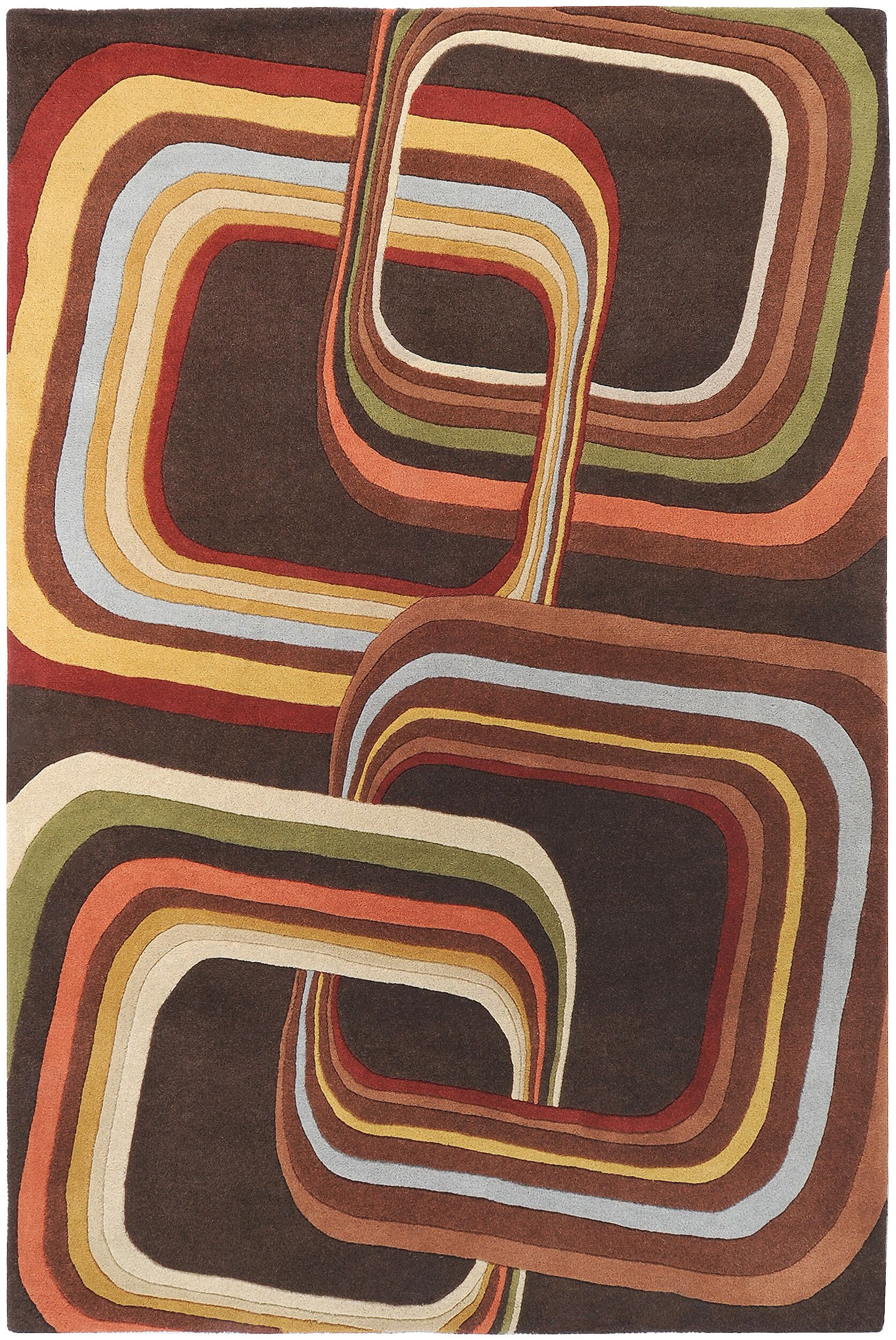Wyandotte Chocolate Area Rug Rug Size: Square 9'9