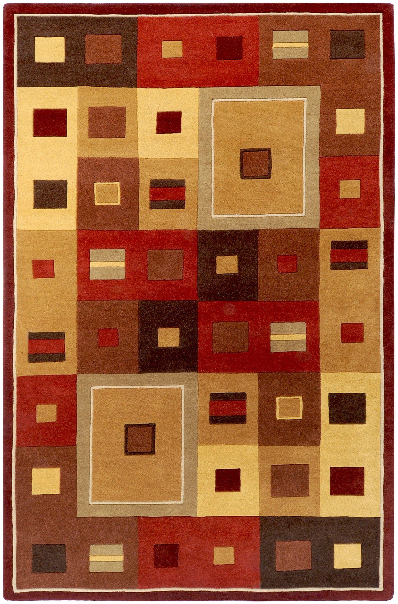Dewald Burgundy Area Rug Rug Size: Rectangle 8' x 10'