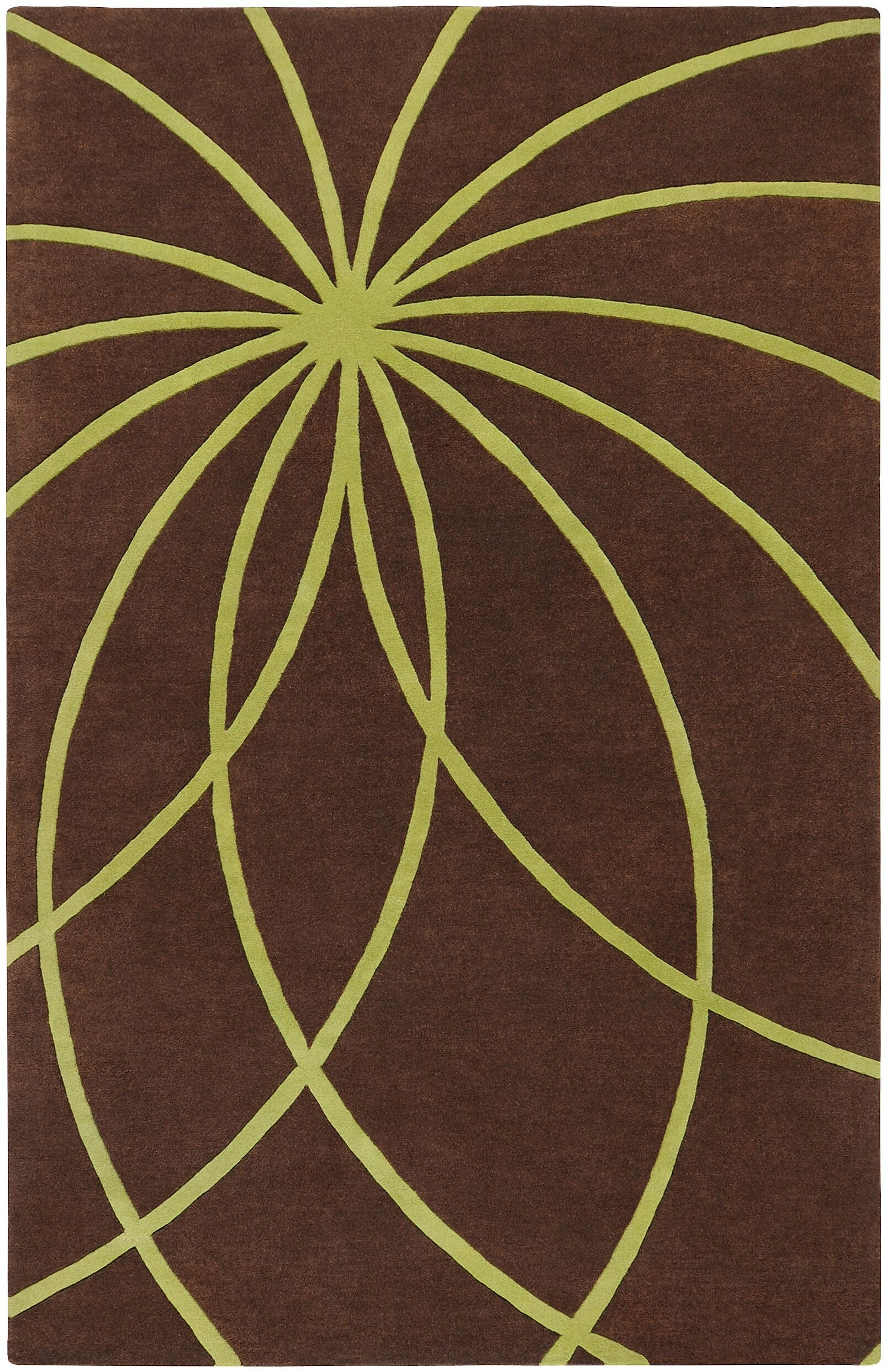 Dewald Handmade Chocolate Area Rug Rug Size: Rectangle 10' x 14'