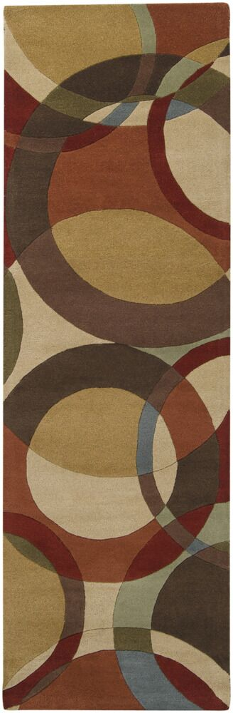 Dewald Chocolate/Red Area Rug Rug Size: Square 6'