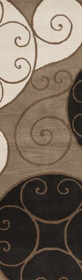 Diana Brown Area Rug Rug Size: Square 9'9