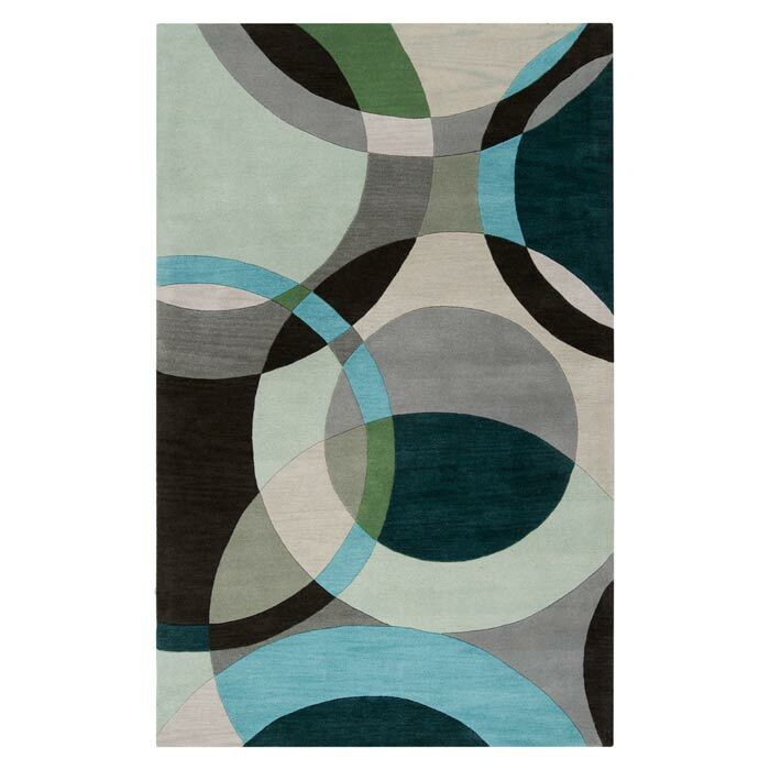 Dewald Gray/Light Celadon Area Rug Rug Size: Runner 2'6